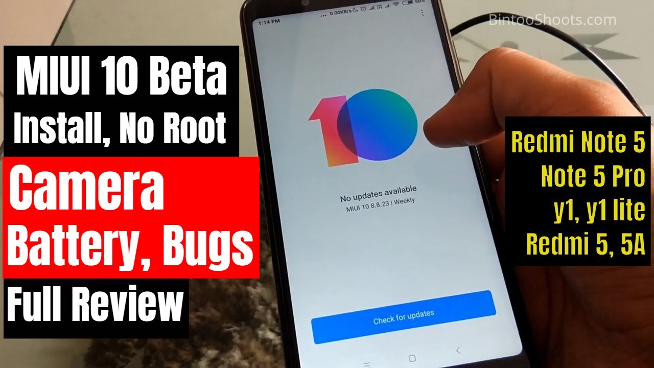 How to Install MIUI 10 Beta ROM on Redmi Note 5 Pro without
