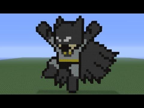 Minecraft Pixel Art Batman Tutorial Youtube