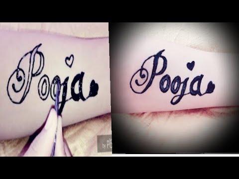 Mehndi Tattoo Designs Easily Temporary Tattoo Mehndi Pooja Name