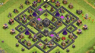 HYBRIDE - Clash of Clans - Attaque sur HDV9 100% #029 Gameplay