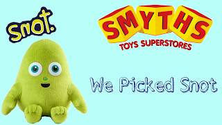 Smyths toy superstore, Snot, Christmas Advert 2017 #PickSnot plush Unbox Review, Snot game