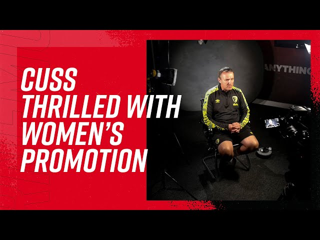 Steve Cuss elated with Women's promotion 🙌