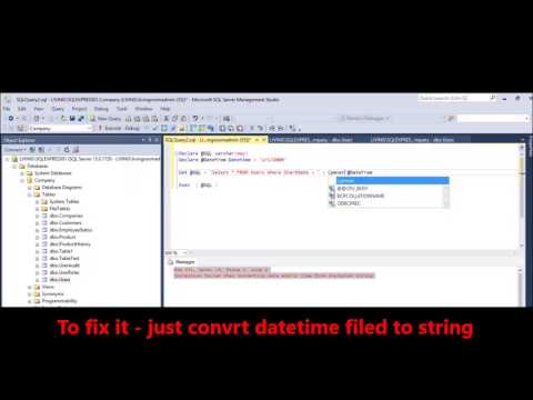 MSSQL -  Fix Error -  Conversion failed when converting date and or time from character string n