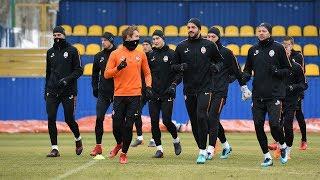 Открытая тренировка перед матчем против Черноморца