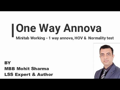What is One Way ANOVA, also lean its minitab working with example