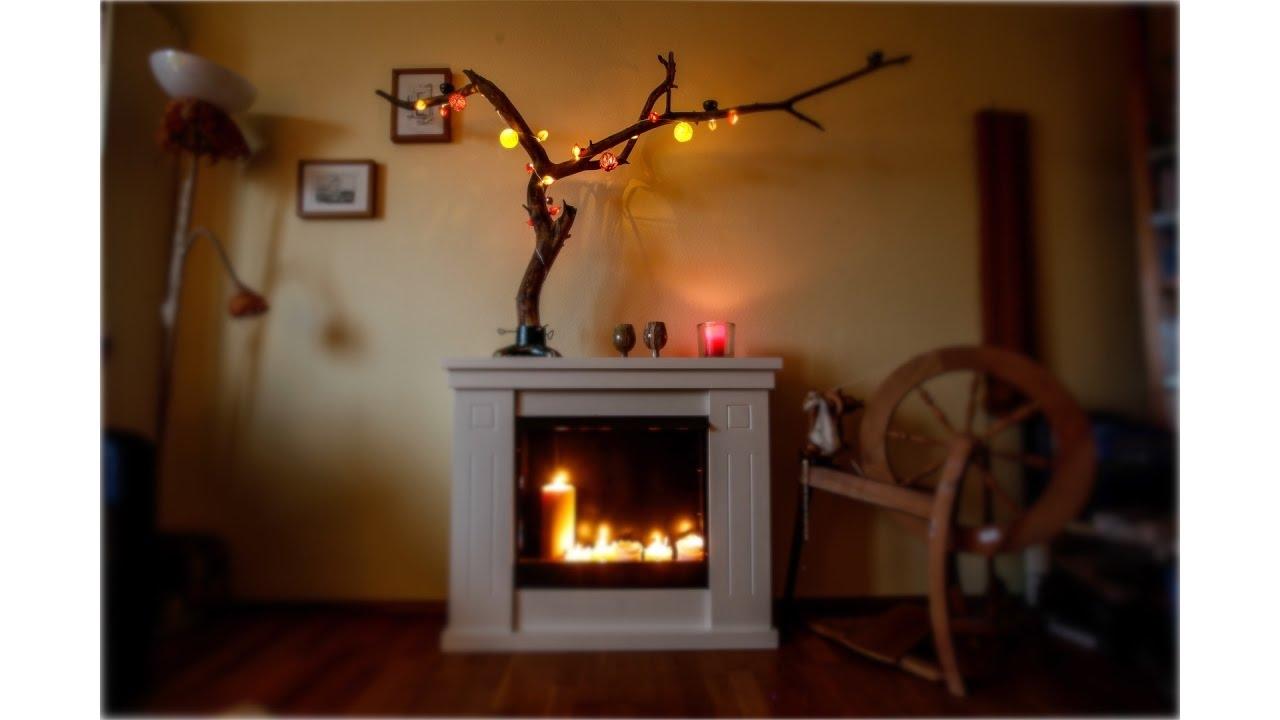 Kerzenhalter aus naturholz diy holz   youtube