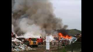 Brandweer Antwerpen - Hevige brand op stortplaats Hoge Maey - 15 8 2013