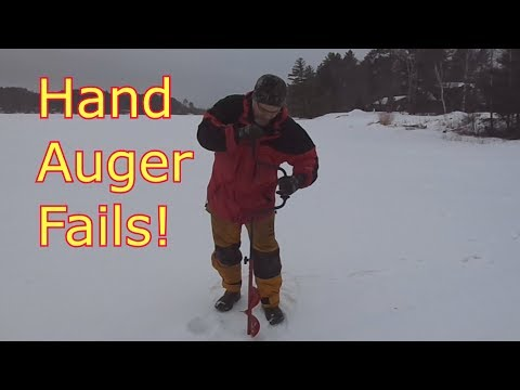 Ice Fishing Tips - Stop Wrecking Your Hand Auger!