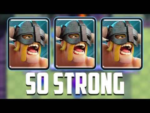 Clash Royale - NEW Elite Barbarians Deck!