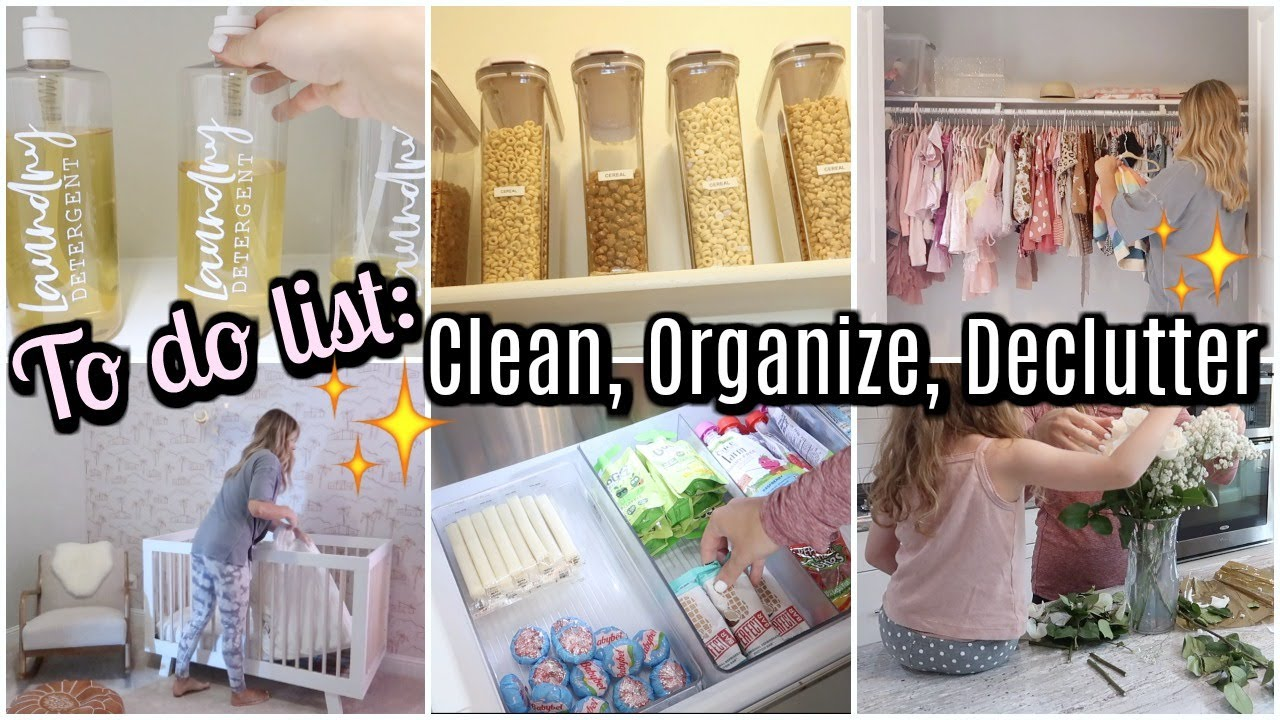 TACKLE YOUR TO DO LIST WITH ME: CLEAN AND ORGANIZE WITH ME, GROCERY HAUL | Tara Henderson