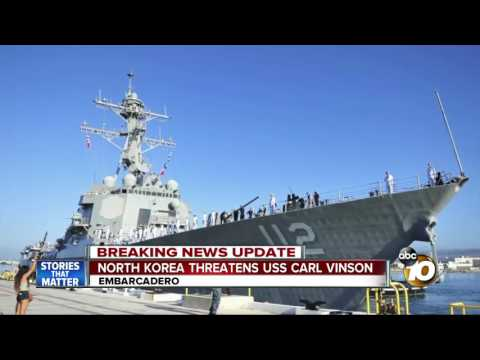 North Korea threatens USS Carl Vinson