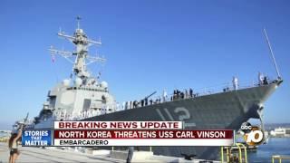 North Korea threatens USS Carl Vinson