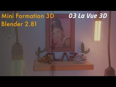 Mini Formation 3D -  Blender 2.81 - 03 Vue 3D thumbnail