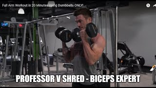 V Shred Makes Yet Another 20 Minute Arm Workout!