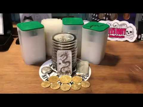 My Full Stack Of Silver And Gold Bullion