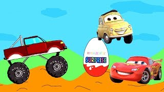 Мультик про машинки. Киндер Сюрпризы - Тачки. Kinder Surprise Eggs unboxing