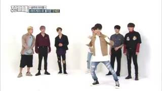 weekly idol ep 270 jb got7 danceing me gustas tu gfriend