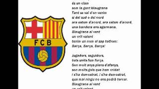 BARCELONA-BARCA HYMN with lyrics