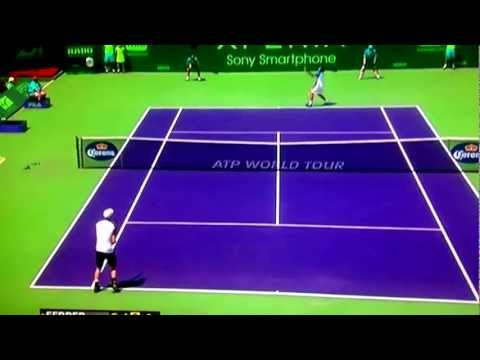 Andy murray vs David ferrer Sony open Miami match winning point