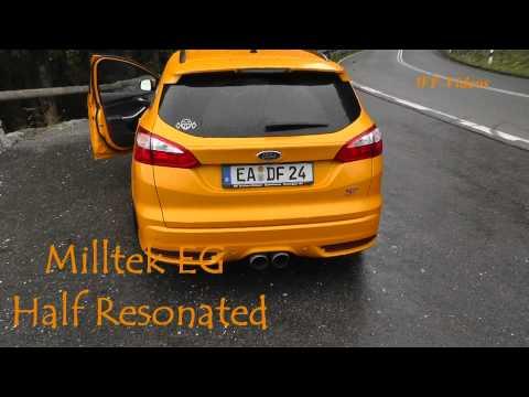 Ford Focus St Mk3 Milltek Cat-Back Resonated / Half Resonated