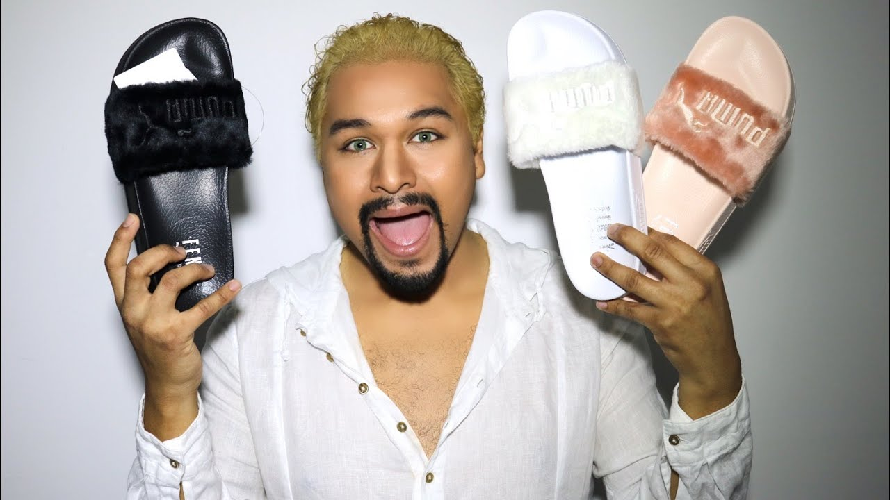 UNBOXING Fenty x Puma Leadcat Fur Slides - YouTube e9700c3f2