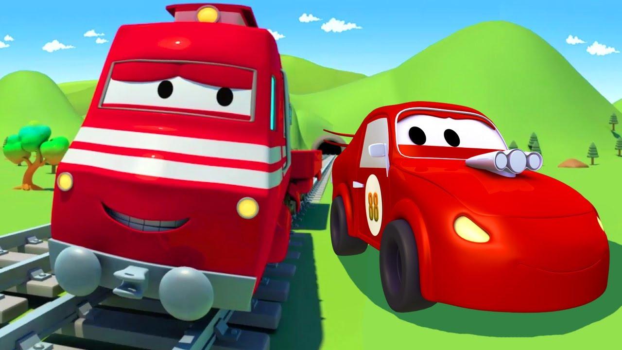 Jerry Si Mobil Balap Mengejar Pengebut Troy Si Kereta Truk Kartun Untuk Anak Anak Youtube