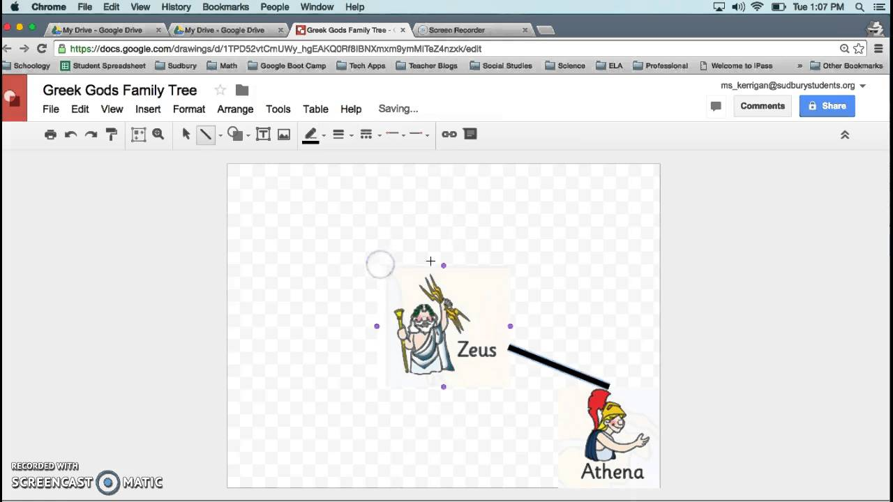 Using Google Drawing for Greek God Family Tree Project - YouTube
