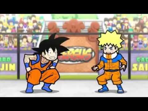 Animação Goku Versus Naruto Comedia Rebosteio