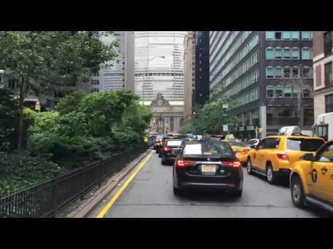 Driving Downtown Park Avenue New York City NY USA
