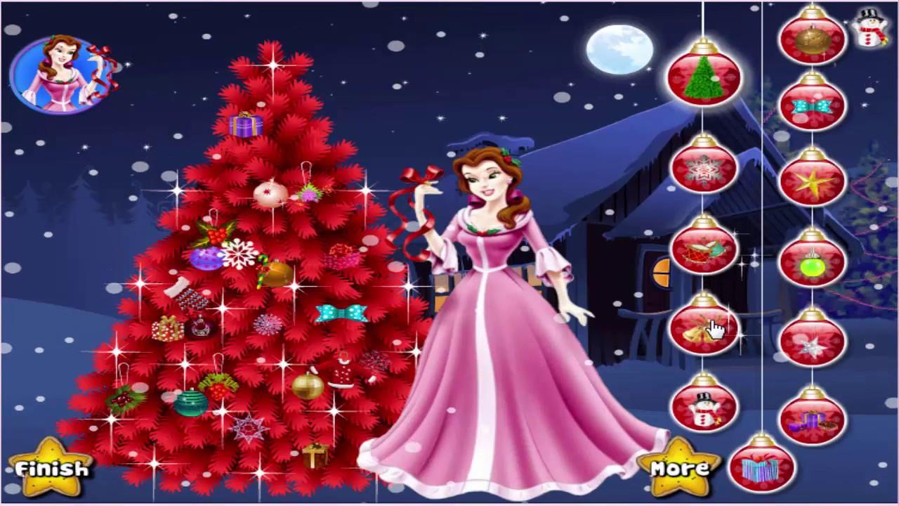 Disney Princess Game Princess Christmas Tree डिज्नी राजकुमारी खेल राजकुमारी  क्रिसमस ट्री