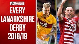 Motherwell v Hamilton | This Season's Lanarkshire Derby Highlights | Ladbrokes Premiership