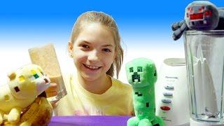Видео для детей. Майнкрафт Оцелот и Крипер готовят эликсир силы вместе с лучшей подружкой Светой!