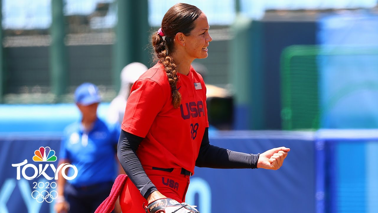 Cat Osterman, Team USA beat Italy 2-0 in opening round softball ...