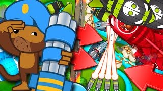 Bloons TD Battles  :: EPIC LATE GAME :: DEFENDING Z.O.M.G. :: MAX DARTLING GUNNER!
