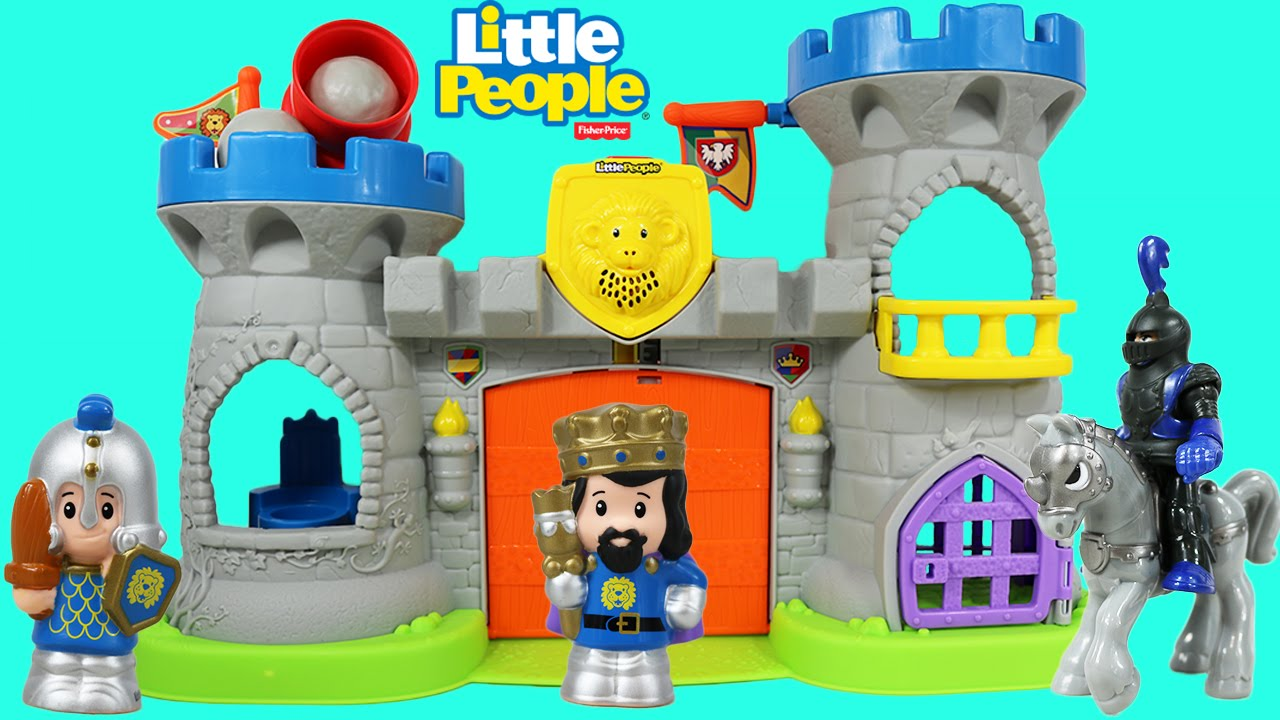 little people mighty king u0027s castle with a dragon and an imaginext
