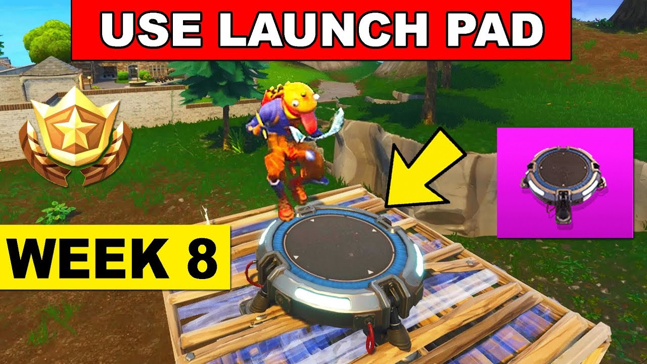 use a launch pad fortnite week 8 challenge where to find launch pad location youtube. Black Bedroom Furniture Sets. Home Design Ideas