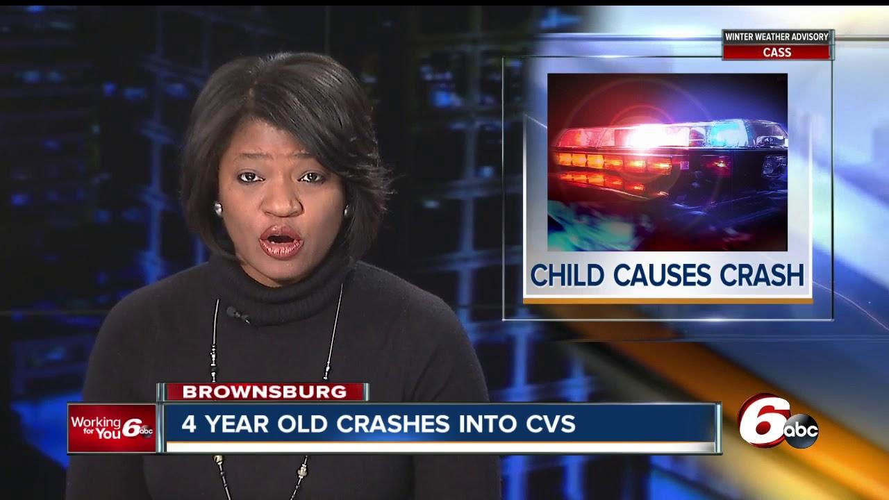 4-year-old crashes car into Brownsburg CVS