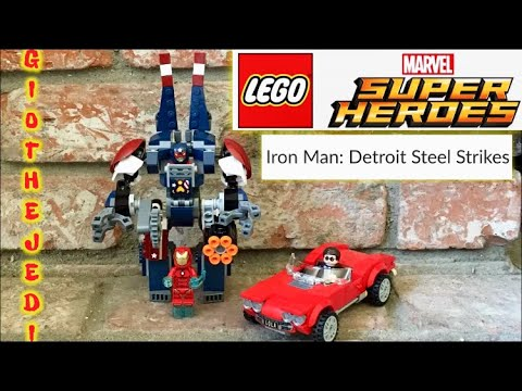 Lego Marvel Super Heroes Iron Man: Detroit Steel Strikes Review. 76077