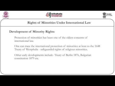 Rights of minorities under international law