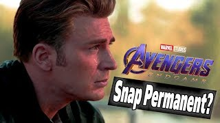 *New* Avengers Endgame Theory: The Snap is PERMANENT?