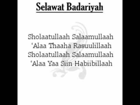 Selawat Badariyah Lirik