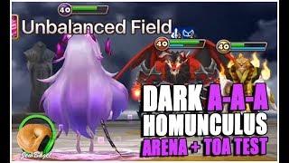 SUMMONERS WAR : Dark Homunculus A-A-A Build Arena + ToA Hard Test