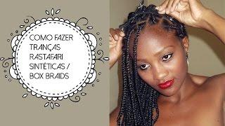 como fazer tranas rastafari   box braids