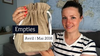 Empties #26 : Avril/Mai 2016 | Douce nature, Mademoiselle Bio, Avril Beauté...