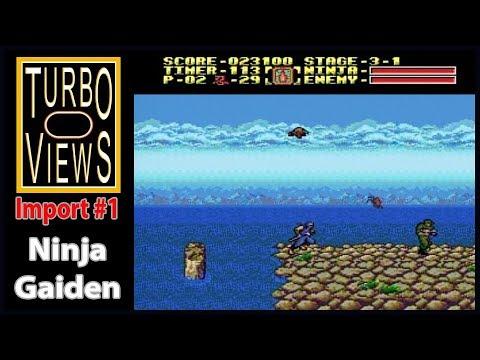 'Ninja Gaiden'  -  Turbo Views Import #1 (PC-Engine game REVIEW!)