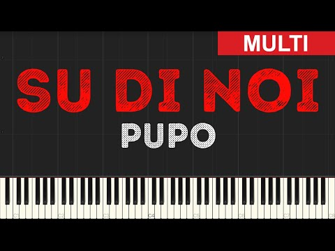 Pupo - Su Di Noi (Instrumental Tutorial) [Synthesia]