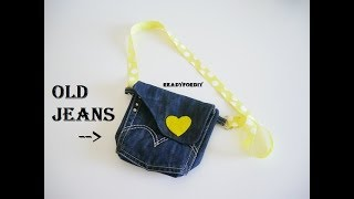 DIY Jeans Purse Bag Using Old Jeans - Tutorial