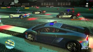 GTA IV - 14th March 2013 - Office Riot Event - BUSTED + Group Stunts + Lamborghini Race!