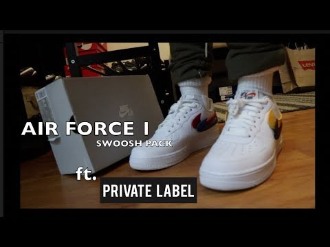 b65903cb6111 AIR FORCE 1 SWOOSH PACK UNBOXING REVIEW + FIT