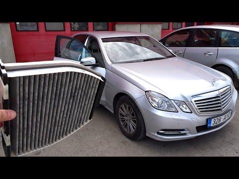 Замена салонного фильтра Mercedes W212
